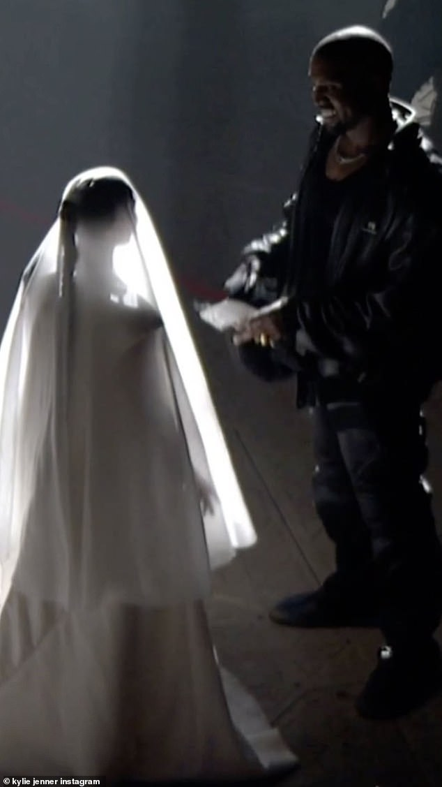 Rekindled? Last week, Kim made a statement when she appeared on stage at his Donda listening event in Chicago in a wedding gown and veil.