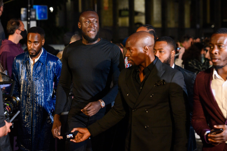 Stormzy arriving at the GQ Men Of The Year Awards 2021, the Tate Modern, London. Picture date: Wednesday September 1, 2021. Photo credit should read: Matt Crossick/Empics