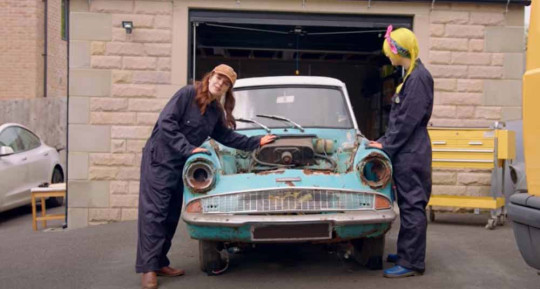 Cherry and her friends are restoring a Ford Anglia identical to the Weasley flying car (Collect/PA Real Life).