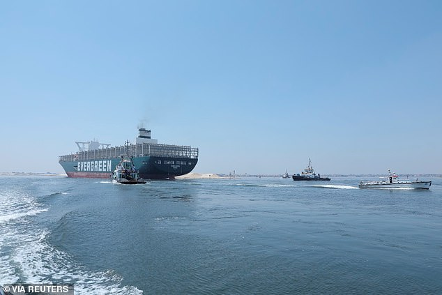 The Suez Canal Authority has announced that the ship has now successfully made its passage back through among other vessels coming from the Mediterranean Sea to the Red Sea
