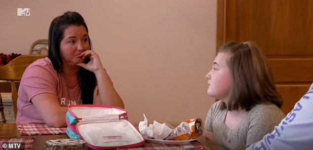 Radio silence: Amber said she hadn't lived with her daughter in 20 months and claimed Leah and Gary ignored her messages; Leah (R) seen with Kristina on Teen Mom OG's reunion