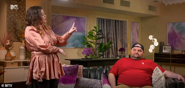 Bitter: During the reunion episode from April, the reality star walked away from her conversation with Gary over complaints that his wife 'got in the way' of her relationship with Leah