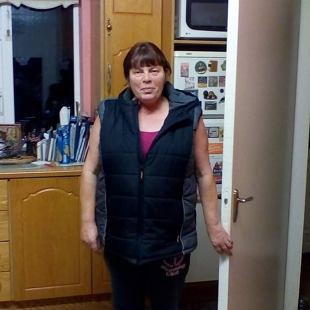 A neighbour called to the home around 8.30pm, after concerns were raised about a door being left open at their property, where he discovered the bodies of Eileen (pictured) and Jamie in their beds with fatal gunshot wounds