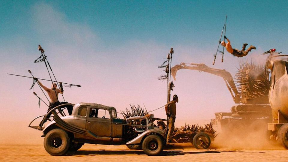 """The super-turbocharged, nitrous-boosted 5-window Deuce Coupe Nux Car is among the """"Mad Max Fury Road"""" vehicles up for auction. - Credit: ©Warner Bros/Courtesy Everett C"""