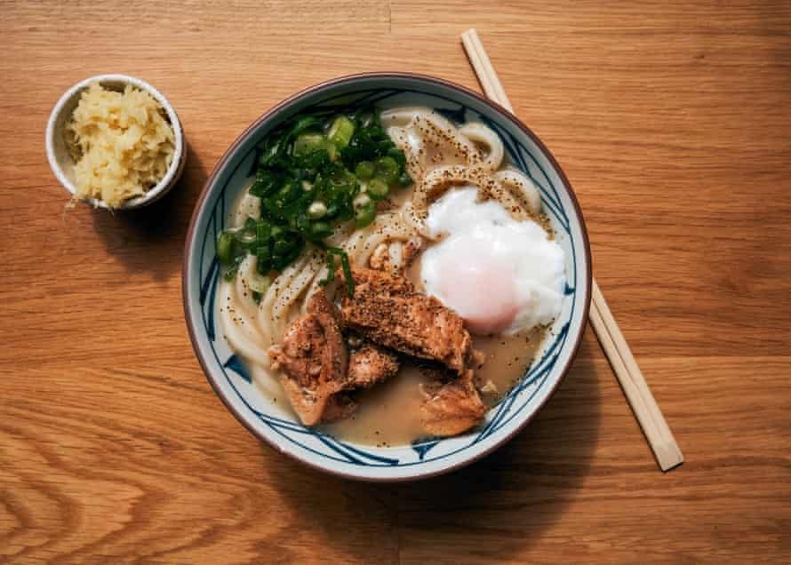 The chicken paitan at Marugame Udon, E1.