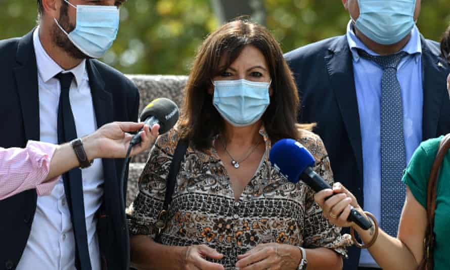 Paris mayor Anne Hidalgo arrives for a Socialist party meeting in Montpellier.
