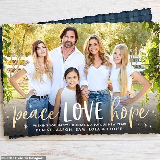 They looked fine on New Year's:Denise, Aaron and their children have been renting a home in Malibu after being displaced by the Woolsey Fire of 2018. It is not known where Sam was attending high school