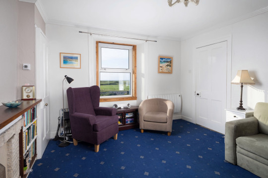 living room in isle of harris cottage