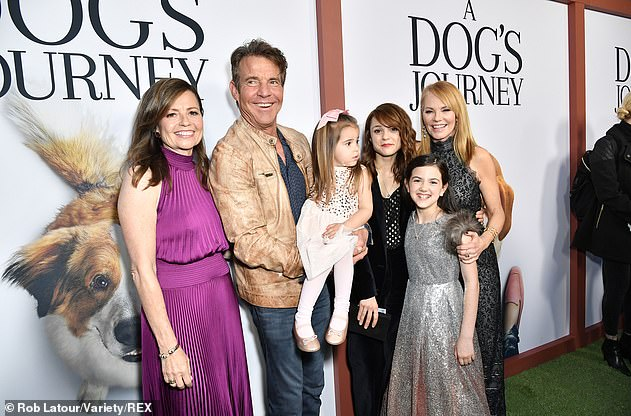 Acting job: Kathryn is pictured with fellow cast members at the premiere for A Dog's Journey in May 2019