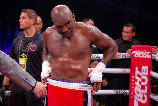 Evander Holyfield looked in great shape for the fight