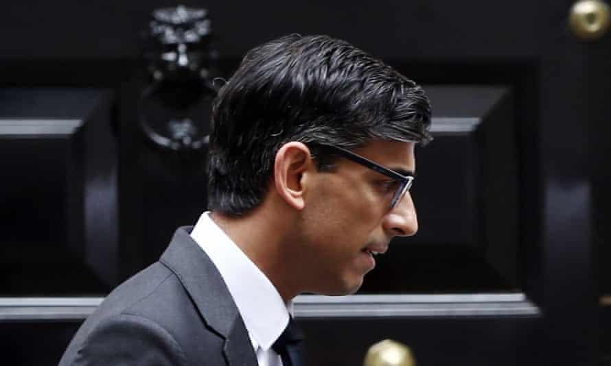 Chancellor Rishi Sunak in Downing Street.