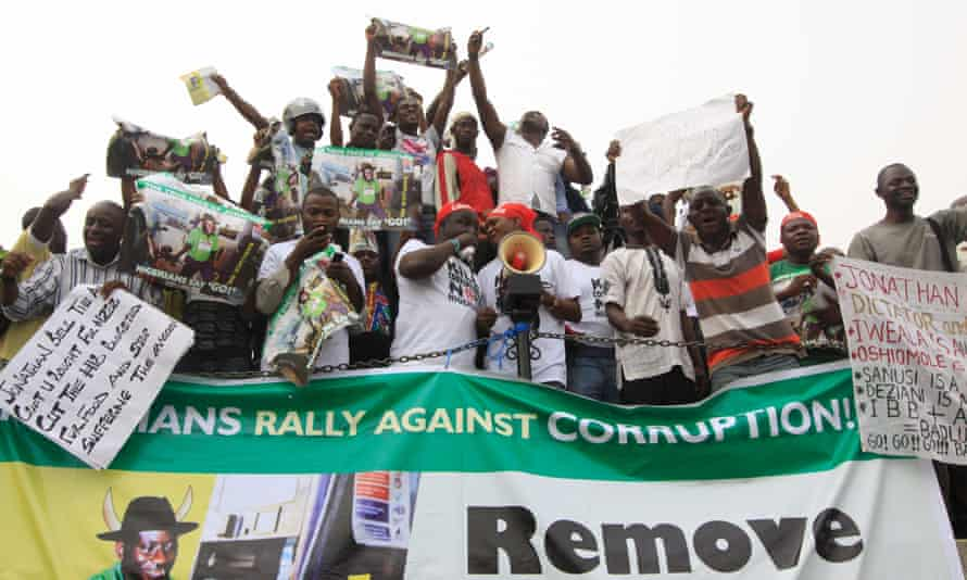 Occupy Nigeria protests in Lagos, January 2012.