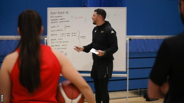 Gloucester Queens coach Jay Marriott