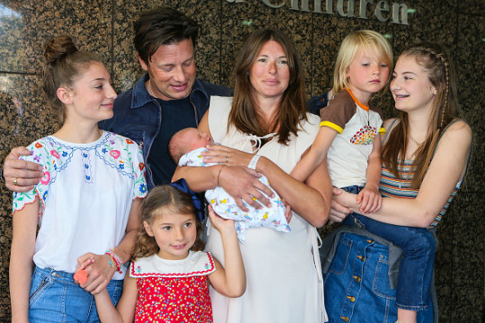 Jamie Oliver, Jools Oliver and family with their new baby at London Celebrity Sightings -  August 08, 2016
