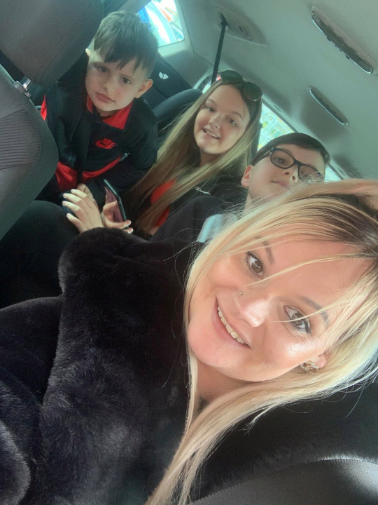 Becky Alsop with three of her children