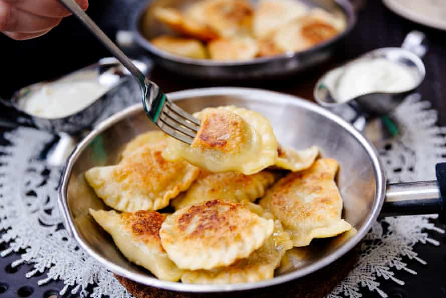 Make it an interactive experience by involving everyone in making pierogi, for example