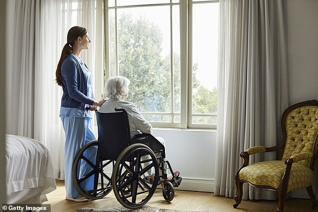 Nursing homes are often inadequately staffed leading to them distributing antipsychotics medications to patients to sedate them so they require less care (file image)