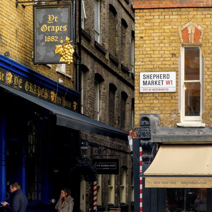 A short stroll from The Mayfair Townhouse is Shepherd Market, an 18th-century square behind Piccadilly...