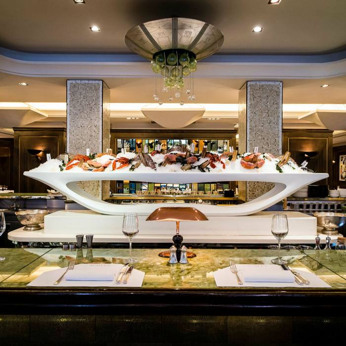 The counter at Mayfair seafood institution Scott's...