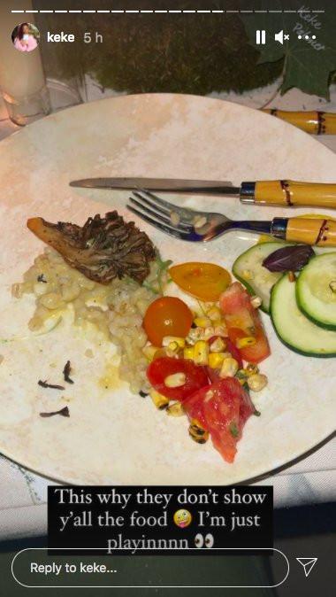 Keke Palmer shares pic of Met Gala food and the supermarket salad bar does better Picture: Keke Palmer