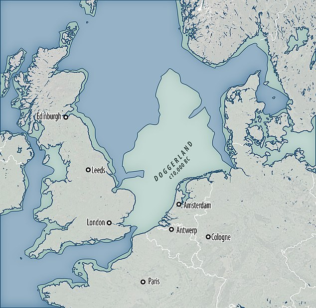 Doggerland stretched from where Britain's east coast now is to the present-day Netherlands, but rising sea levels after the last glacial maximum and the Storegga Slide led to its disappearance