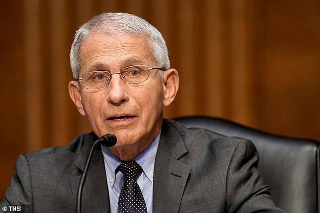 Fauci said he found the Israeli vaccine efficacy data impressive. Pictured: Fauci in May 2021