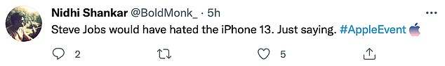 Many fans took to social media to blast the latest model, saying it had no major improvements and lacked the innovation Apple is known for. Others said late co-founder Steve Jobs would have been disappointed with the latest offering, adding that it 'did not do justice to his legacy'