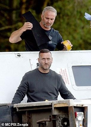 Shooting scenes: He stood next to the van afterwards