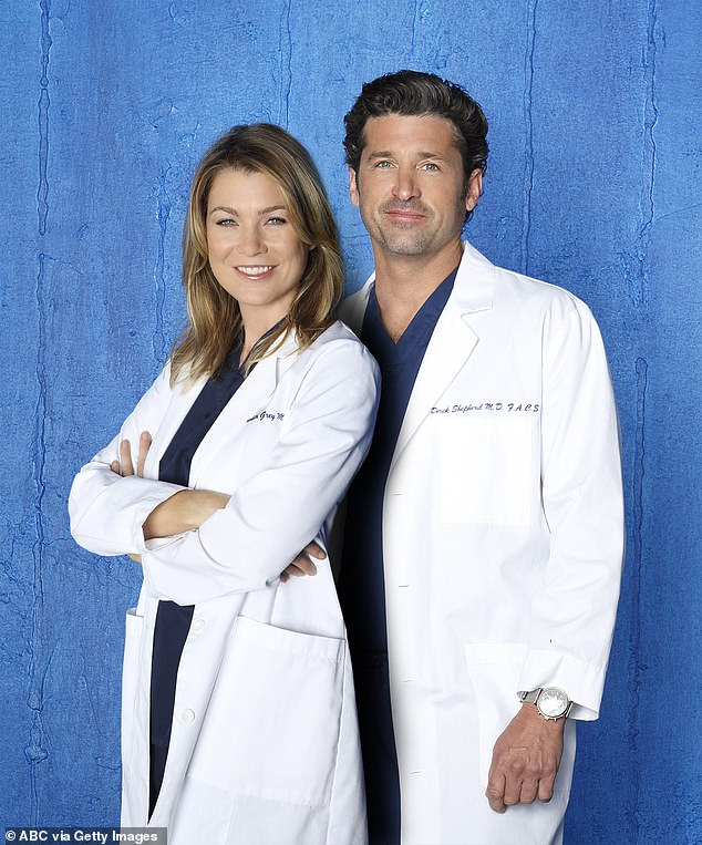 Frustrated:On-screen love interest Ellen Pompeo became 'frustrated with Patrick' and 'would get angry that he wasn't working as much,' according to one insider
