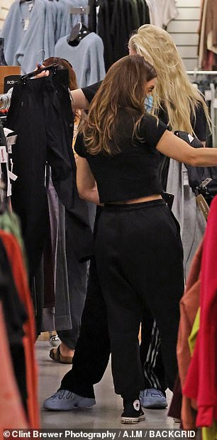 What do you think? The reality star was later caught browsing the leggings aisle, pulling out a solid black pair to show to her assistant