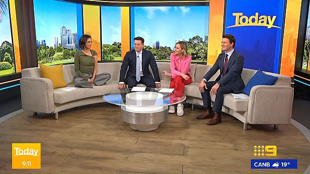 Black comedy: 'You can't sue when you're dead, can you?' Stefanovic joked, which earned him a reprimand from Langdon for the 'unnecessary' quip