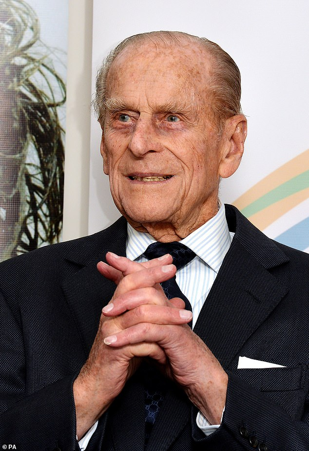 Rest in Peace: Philip died on April 9 at the age of 99. He's seen here in 2014