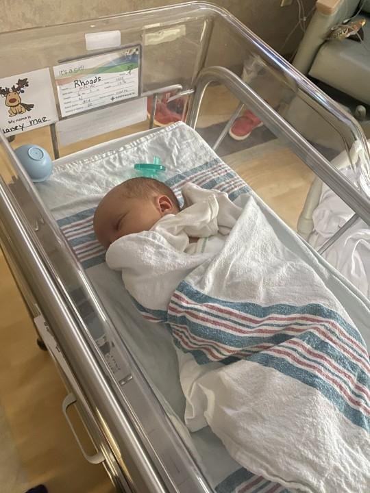 Nadia Rhoads's baby Delaney