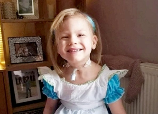 Willow Musgrave (6) who has a tracheostomy.
