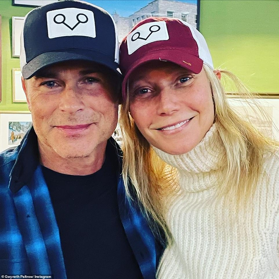 'My best older brother': The showbiz couple's A-list neighbors include Rob Lowe (L, pictured March 17), Oprah Winfrey, Ellen DeGeneres, Adam Levine, George Lucas, as well as Prince Harry and Meghan Markle