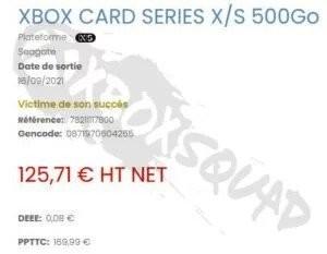 Xbox 500GB expansion card leak