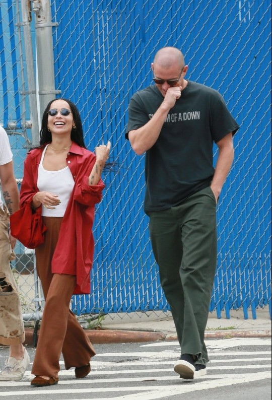 Zoe Kravitz and Channing Tatum enjoying a walk in New York