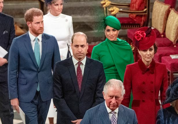 William and Kate with Harry and Meghan during their last appearance as senior royals