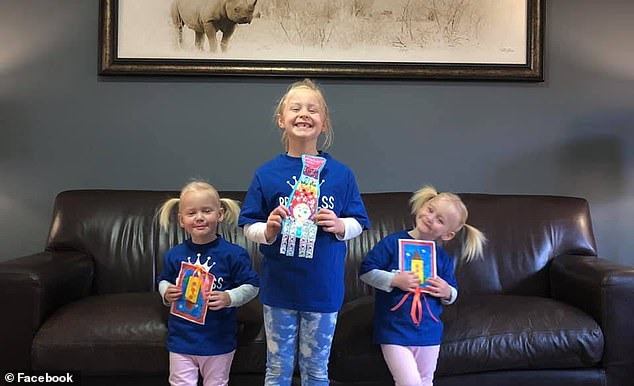 In South Africa, the girls' grandmother said the family was struggling to comprehend what had happened. Pictured: The twins, Maya and Karla and sister, Liane