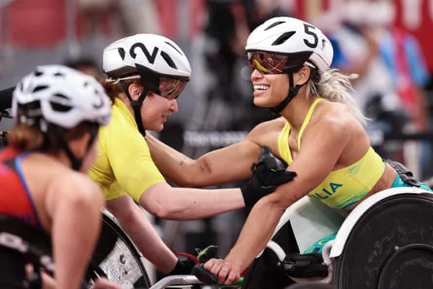 De Rozario after picking up her first gold of the Tokyo Paralympics in the women's T53 800m.
