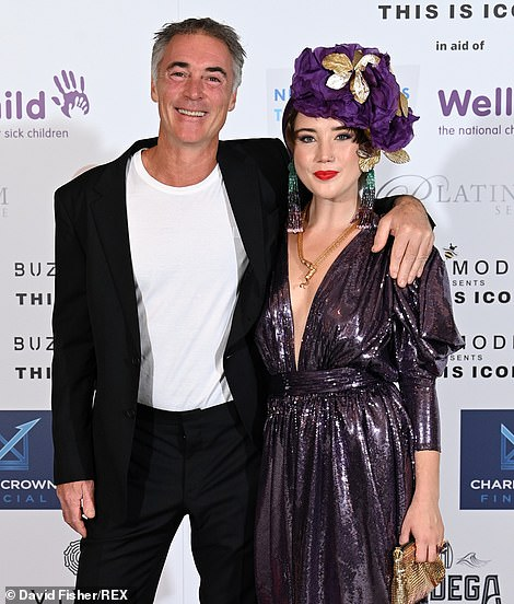 Proud dad:Emma's husband - and father to daughter Gaia - Greg Wise, 55, also attended the star-studded evening