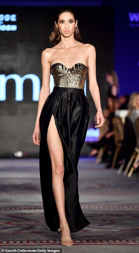Fashion showcase: The evening also featured a lavish fashion show