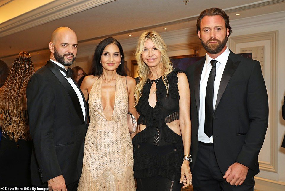 Group snap:: (L to R) Justin Horne, Yasmin Mills, Melissa Odabash and guest enjoyed the night's celebrations