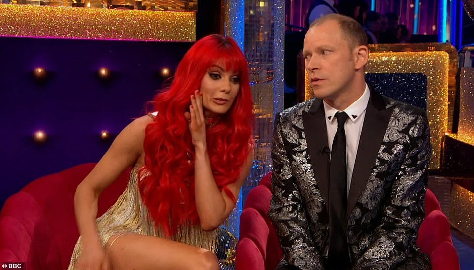 It's Dianne!The comedian's professional dance partner was revealed as Dianne Buswell