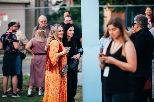 Courteney Cox at the Isle of Wight Festival
