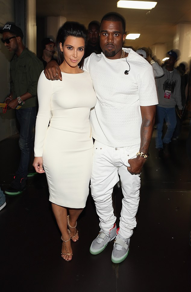 The way they were: The reality star filed for divorce from Kanye earlier this year; pictured 2012