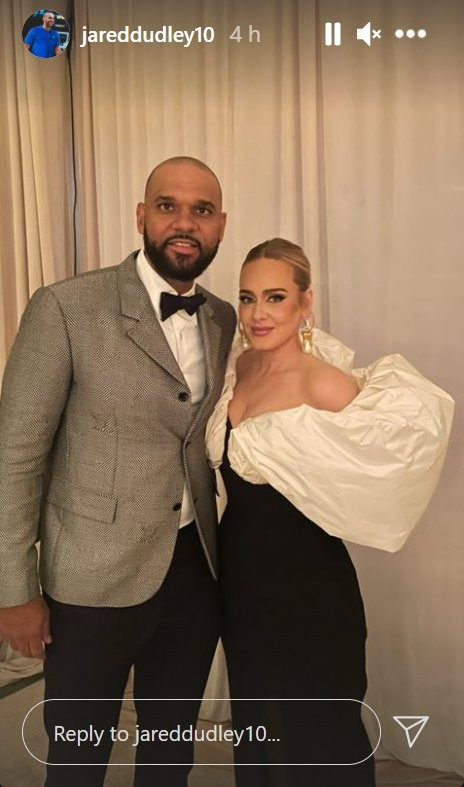 Adele and Jared Dudley