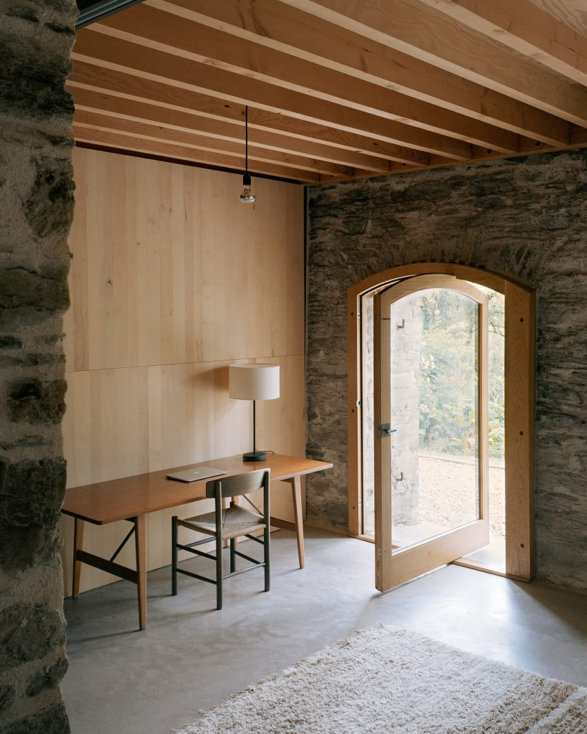 Study space at Redhill Barn