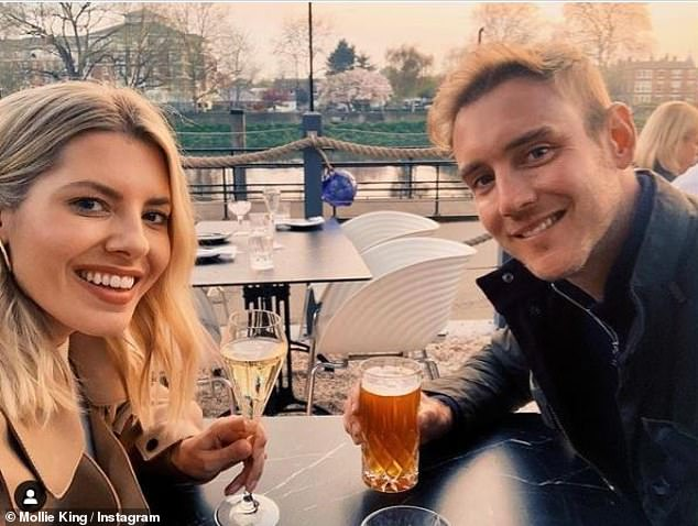 Cute couple:For now, Mollie is busy planning her wedding to England cricketer Stuart Broad. The couple have been an on-off item since 2012