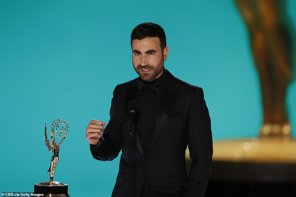 Two for two: Immediately after Hannah's big win, Ted Lasso fans scored another goal when comedian and actor Brett Goldstein was announced the winner of the Best Supporting Actor in a Comedy Series trophy